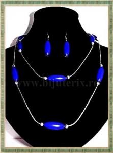 Colier + cercei Electric blue