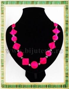 Colier Pink velvet