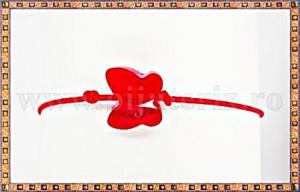 Bratara Lucky charm Fluturas cristal Swarovski 6mm rosu