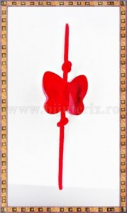 Bratara Lucky charm Fluturas cristal Swarovski 8mm rosu