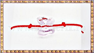 Bratara Lucky charm Fluturas cristal Swarovski 10mm lila