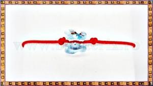 Bratara Lucky charm Fluturas cristal Swarovski 8mm aquamarine