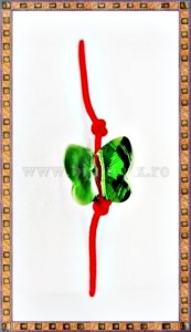 Bratara Lucky charm Fluturas cristal Swarovski 6mm verde