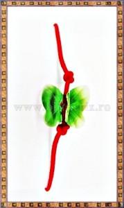 Bratara Lucky charm Fluturas cristal Swarovski 8mm verde