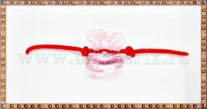 Bratara Lucky charm Fluturas cristal Swarovski 10mm roz