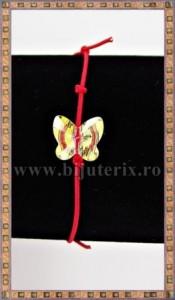 Bratara Lucky charm Fluturas cristal Swarovski 10mm galben curcubeu