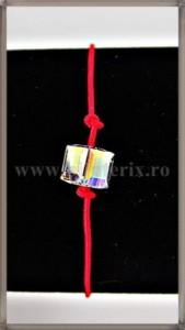 Bratara Lucky charm Cub cristal Swarovski 6mm curcubeu