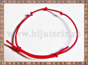 Bratara Lucky charm 3 noduri - snur rosu Bebelus