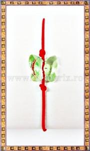 Bratara Lucky charm Fluturas cristal Swarovski 6mm verde deschis