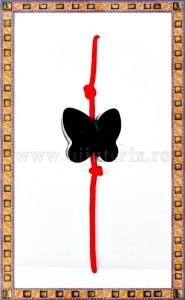 Bratara Lucky charm Fluturas cristal Swarovski 6mm negru