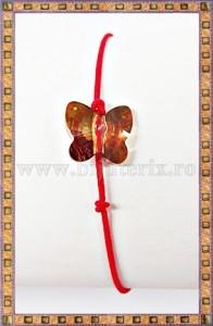 Bratara Lucky charm Fluturas cristal Swarovski 10mm copper