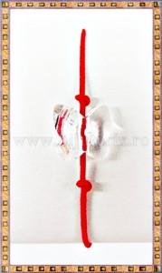 Bratara Lucky charm Fluturas cristal Swarovski 8mm alb transparent