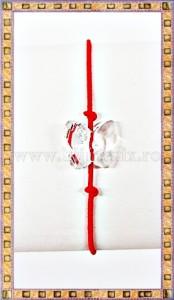 Bratara Lucky charm Fluturas cristal Swarovski 6mm alb transparent