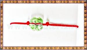 Bratara Lucky charm Trifoi cristal Swarovski 8mm verde deschis