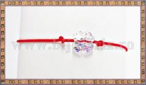 Bratara Lucky charm Trifoi cristal Swarovski 8mm galben curcubeu