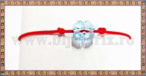 Bratara Lucky charm Trifoi cristal Swarovski 8mm aquamarine