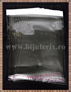 Pungi celofan 19x10cm (10buc) - dunga alba