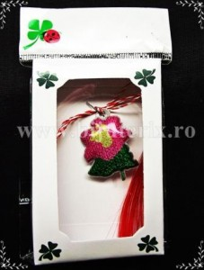 Martisor Floare roz - complet cutie