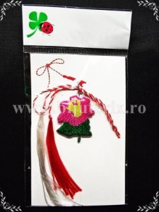 Martisor Floare roz - complet