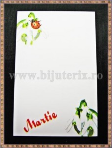 Carton martisor Martie 9x5,5cm - ghiocei - 10buc