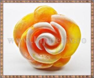 Inel Trandafir galben si portocaliu