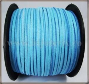 Snur imit. piele intoarsa 3x1,5mm - turcoaz -1m