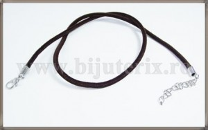 Snur colier catifea - maro-1 buc
