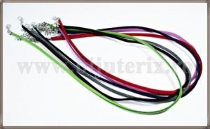 Mix Snururi colier imit. piele intoarsa - 5culori+1gratis