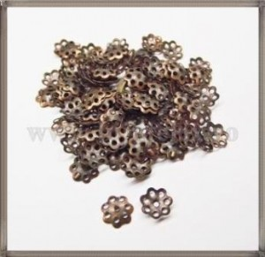Capacele metalice floare 6mm - cuprate (50 buc)