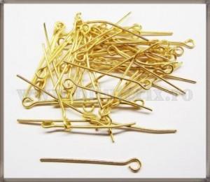 Ace cu bucla - 2,5cm - auriu (50buc)