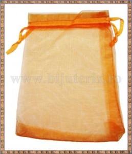 Saculet organza 11x8,5cm portocaliu