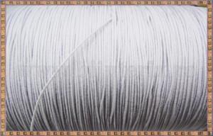 Snur elastic 0.65mm - alb -10m