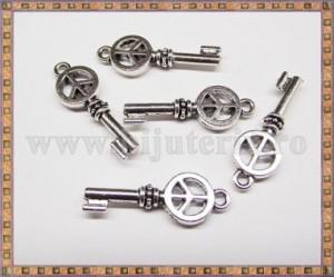 Charm Cheie 25mm - argintiu