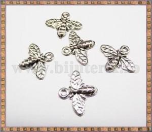 Charm Albinuta 15mm - argintiu