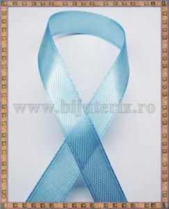 Panglica satin bleu 1cm - 1m