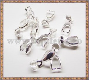 Agatatoare pandantiv 15mm - argintiu