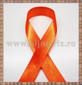 Panglica satin portocaliu 1cm - 1m