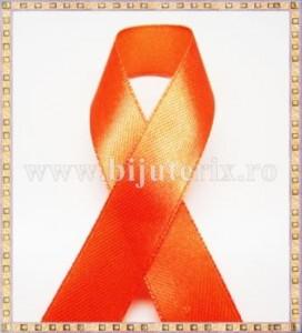 Panglica satin portocaliu 1,5cm - 1m