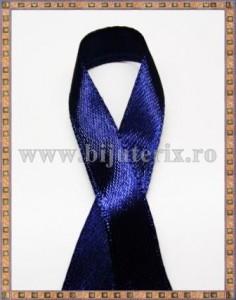 Panglica satin albastru inchis 1cm - 1m
