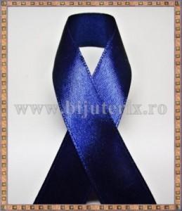 Panglica satin albastru inchis 2,5cm - 1m