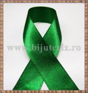 Panglica satin verde 1,5cm - 1m