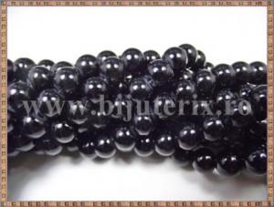Margele - perle sticla 8mm - negru (10buc)