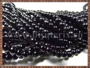 Margele - perle sticla 4mm - negru (10buc)