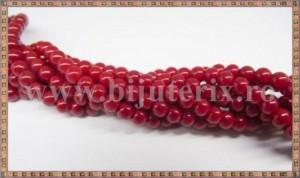 Margele - sticla acrilica 6mm - rosu carmin (10buc)