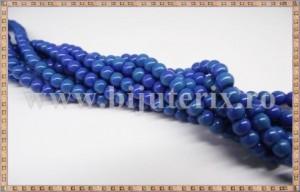 Margele - sticla acrilica 4mm - albastru inchis (10buc)