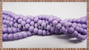 Margele - sticla acrilica 4mm - mov - lila (10buc)