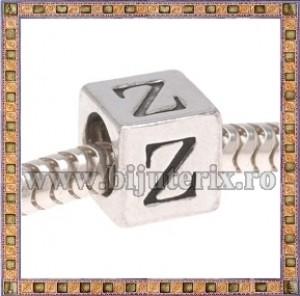 Margica argintie 6.4mm Litera Z