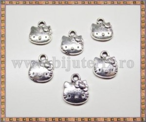 Charm Hello Kitty 12mm - argintiu