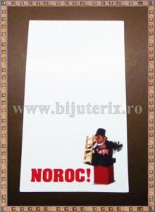 Carton martisor Noroc 9x5,3cm - Cosar - 10buc