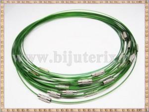 Baza Colier - sarma siliconata cu memorie verde 45cm